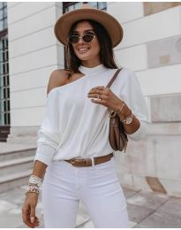 Блуза - код 5618 - бело