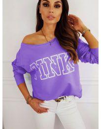 Блуза - код 5464 - виолетова