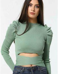 Блуза - код 4519 - зелена