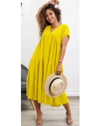 Фустан - код 4475 - жолта