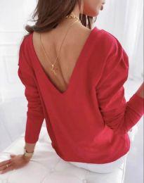 Блуза - код 5173 - 4 - црвена