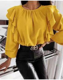 Блуза - код 4445 - жолта