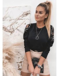 Блуза - код 4216 - црна