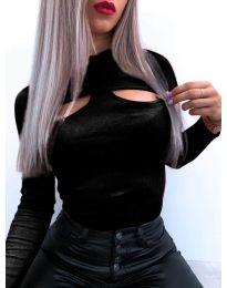 Блуза - код 1412 - црна