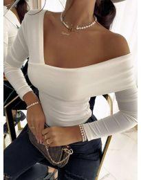 Блуза - код 5343 - 4 - бело