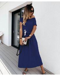 Фустан - код 4151 - темно сина