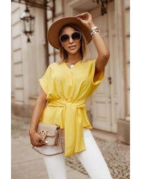 Блуза - код 3070 - жолта