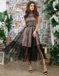 Фустан - код 6858 - 1 - црна