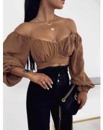 Блуза - код 1112 - кафеава