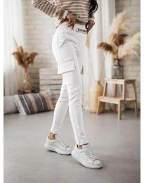 Панталони - код 5130 - бело
