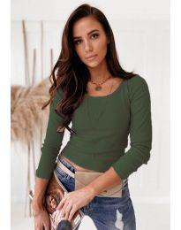 Блуза - код 8365 - путер зелена