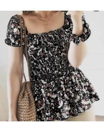 Блуза - код 3464 - црна