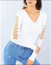 Блуза - код 6776 - бело