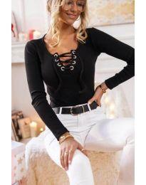 Блуза - код 1582 - 1 - црна