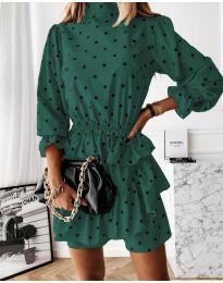 Фустан - код 3665 - темно зелена