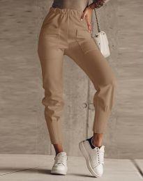 Панталони - код 2252 - кафеава