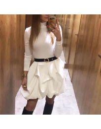 Фустан - код 8380 - бело