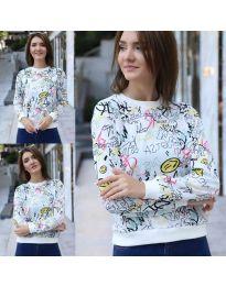 Блуза - код 1471 - 2 - бело