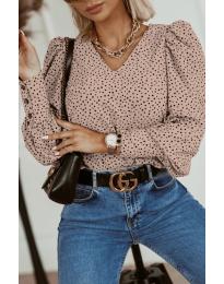 Блуза - код 3250 - пудра