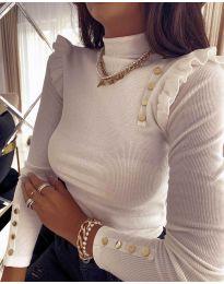 Блуза - код 11483 - 4 - бело