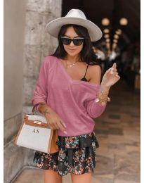 Блуза - код 6013 - розова