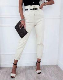 Панталони - код 4655 - бело