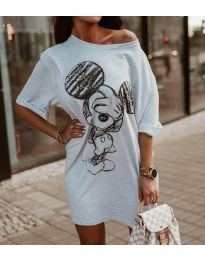 Фустан - код 3352 - сиво