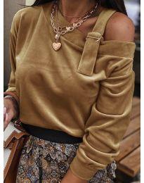 Блуза - код 280 - кафеава