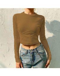 Блуза - код 1124 - кафеава