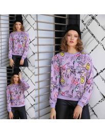 Блуза - код 1471 - 1 - виолетова