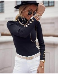 Блуза - код 1489 - 2 - црна