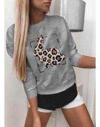 Блуза - код 3992 - сиво