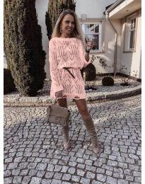 Фустан - код 6208 - розова