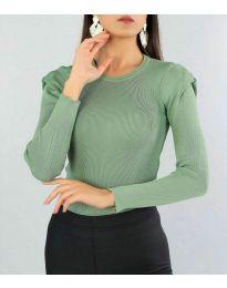 Блуза - код 374 - зелена