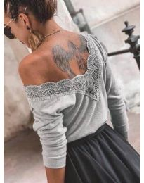 Блуза - код 188 - сиво