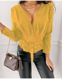 Блуза - код 5525 - жолта