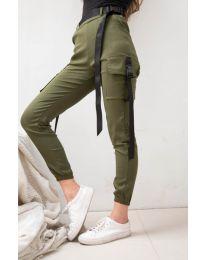 Панталони - код 6967 - путер зелена