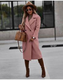 Палто - код 9493 - розова