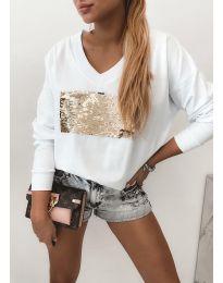 Блуза - код 4150 - бело