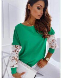 Блуза - код 4426 - зелена