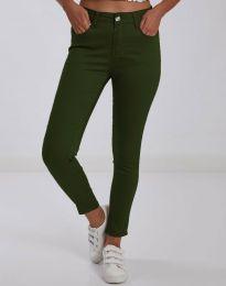 Дамски панталон в масленозелено - код 0674