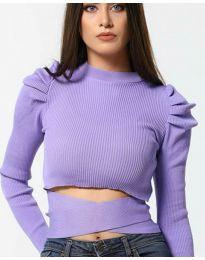 Блуза - код 4519 - виолетова