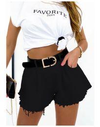 Кратки панталони - код 4563  - 1 - црна