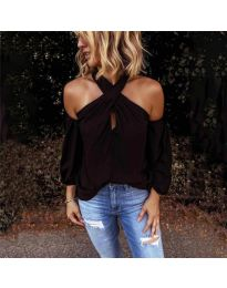 Блуза - код 6568 - црна