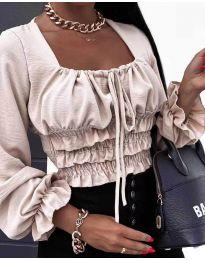 Блуза - код 1819 - кремова