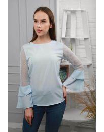 Блуза - код 0643 - 4 - светло сина