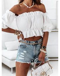 Блуза - код 11898 - бело