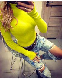 Блуза - код 5256 - неон жолта