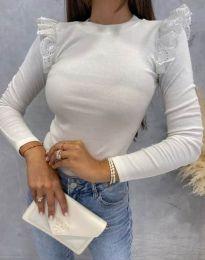 Блуза - код 1663 - бело