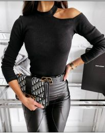 Блуза - код 8570 - црна